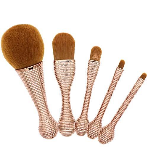 Pinceaux de maquillage femmes Pinceaux de maquillage pour le visage Premium Professional Synthetic Foundation Poudre pour le visage Contour Blush Surligneur Correcteur 5 Pcs Doux