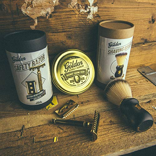 Golden Beards Kobenhavn BALM GROOMING OIL Shaving Kit for Men Wet Shave | Wet Shave Kit Sensitive Skin - Handmade Products from Denmark