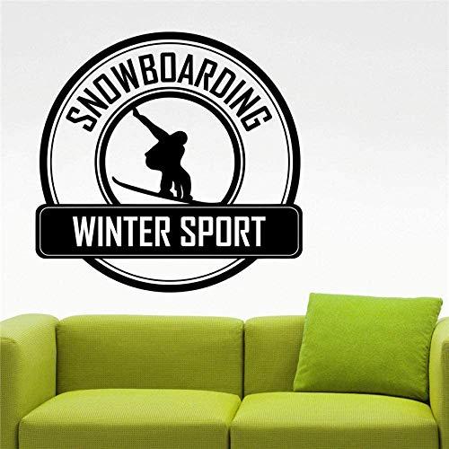 Snowboarden Logo Decal Snowboarden Sticker Home Interieur Ontwerp Extreme Sport Kamer Decor Slaapkamer Muurstickers 58x60cm