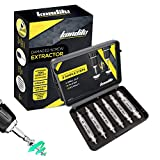 KONDITU - Professional Damaged Screw Extractor Set - *6* Piece Set - Remove Any Stripped Or Damaged Screw Or Bolt - Extra Strong HSS 4341 Steel