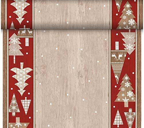 Duni - 184906 - Alpen Kerst Tete a Tete/Tafelkleed - Wit - DUNICEL 0,4X24m - 4 stuks (4 verpakkingen van 1)