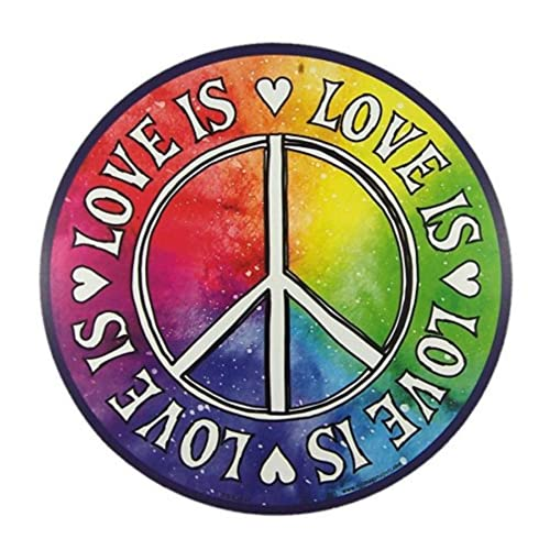 Inspirational Car Magnet Love is Love Peace Magnetic Decal for Locker or Fridge, 5 1/2 Inch