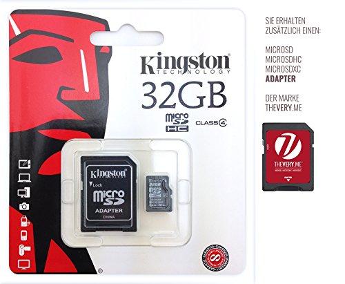 Speicherkarte für Motorola Moto X + 1(2. Generation) 16GB–Kingston 32GB microSDHC Class 4inkl. SD Adapter–Chip Speicher-, Speichererweiterung.