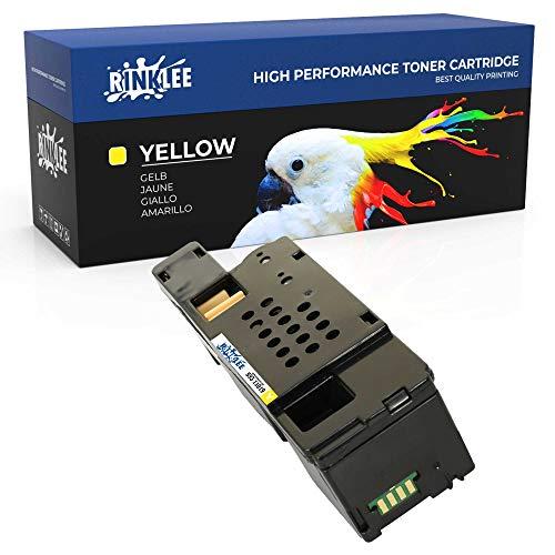 RINKLEE 593-11019 Tonerkartusche kompatibel für Dell C1765nfw C1765nf C1760nw 1250c 1350cnw 1355cn 1355cnw   hohe Reichweite 1400 Seiten   Gelb