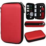 xhorizon(TM)XH8 Portable Multifunctional Shockproof Compact Travel Carry Case Pack Pouch Box Bag With Pockets for Mobie Phone / HDD / External Battery Charger / Earphone / USB Disk / Memory Card
