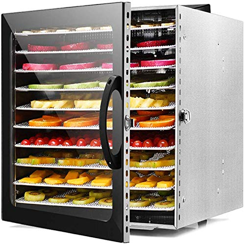 Find Discount XSWZAQ Professional Dehydrator Machine, 10 Stainless Steel Drying Racks, Multi-Tier Fo...