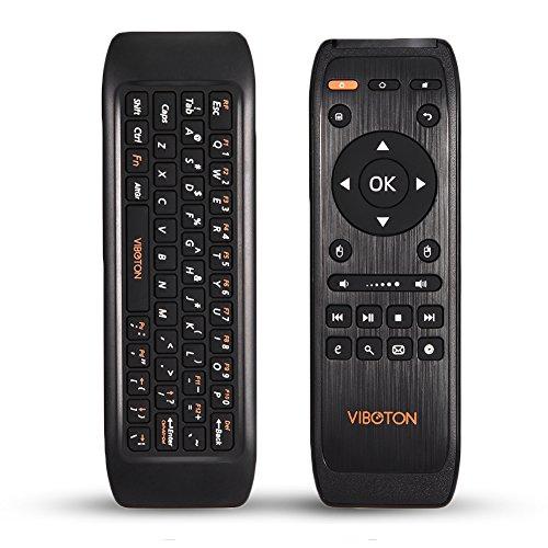 Mini Air Mouse Remote portátil, Smart TV Remote Control Remoto con Teclado inalámbrico de 2.4Ghz, Aplicar a HTPC, Windows, Android, iOS, PC, Smart TV Box
