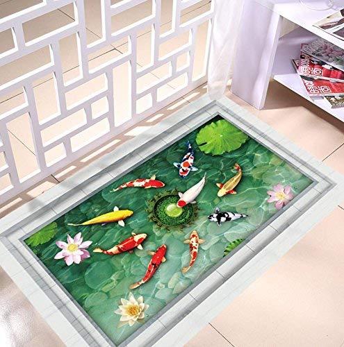 JUN Home Decoratiestickers, creatief, watervast, vloerbedekking van pvc, milieuvriendelijk, bescherming, zelfklevend, vloerpasta, Home Living Room Bathroom Decoratie
