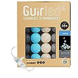 Guirlande lumineuse boules coton LED USB - Veilleuse bébé 2h - Adaptateur secteur double USB 2A inclus - 3 intensités - 16 boules 3.2m - Avatar