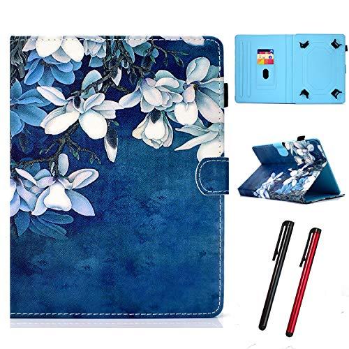 "Hious Hülle für 9-10.5"" Tablet PU Leder Tasche mit Kartenfach & Stift für iPad Pro 9.7/10.5, Samsung Galaxy Tab 4 10.1/Tab Pro 10.1, Lenovo Tab3 10/10 Plus, Google Nexus 10, Mediapad T5 10.1 Zoll"