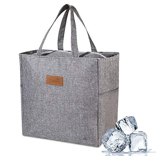 Bolsa Nevera, bolsa más fría con aislamiento grande Bolsa de hielo para picnic Bolsa de almuerzo plegable Bolsa de supermercado para viajes Camping BBQ