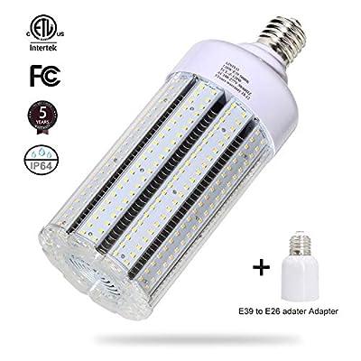 120W LED Corn Light Bulb Large Mogul Base E39 LED Bulb AC100-277V 5000K Daylight LED Replacement 600w Metal Halide HID HPS light bulb for Industrial Commercial Workshop Garage Warehouse High Bay light