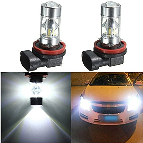 kingnew 2pcs 360 grados conducción DRL Auto Luz Lámpara Bombillas H8 H12 2835 SMD 12 LED High Power antiniebla Faros
