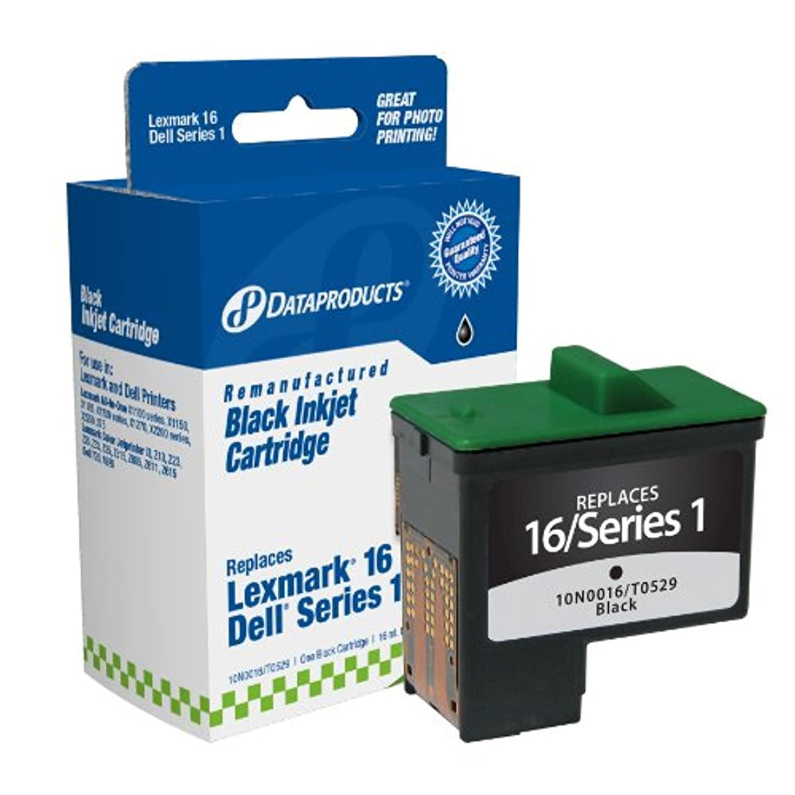 Dataproducts DPCD5878B Remanufactured Ink Cartridge Replacement for Dell T0529 (Series 1), Sharp UXC70B (Black)