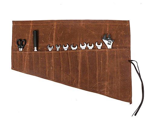 QEES Werkzeugtasche Rolltasche (14 Fächer) Aufbewahrungstasche Für Handwerker Elektriker Maler Künstler Tischler HYGJB13