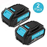 Replacement DCB205 for Dewalt 20V Battery Max XR Lithium DCB206 DCB204 DCB203 DCB200 DCB180 DCB230 DCD DCF DCG Series 2-Pack