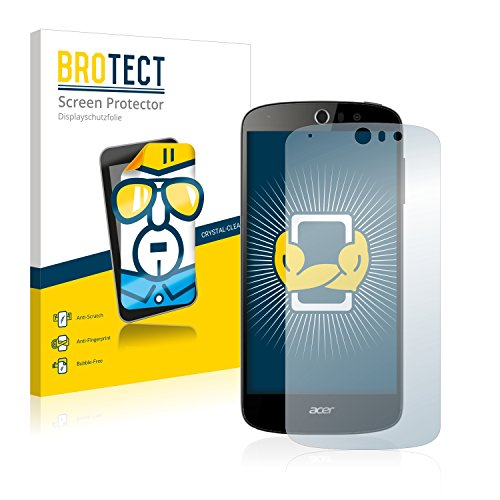 BROTECT Schutzfolie kompatibel mit Acer Liquid Z530 (2 Stück) klare Bildschirmschutz-Folie