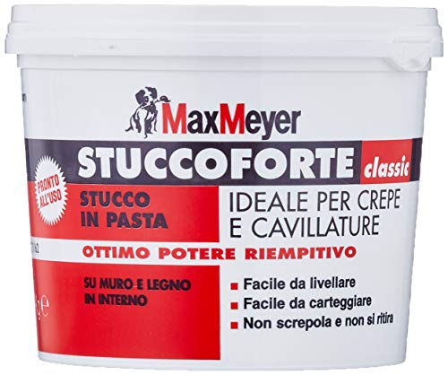 MaxMeyer Stucco in pasta per interni ed esterni BIANCO 1 KG