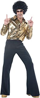 Mens Disco King 1970s Halloween Costume Gold