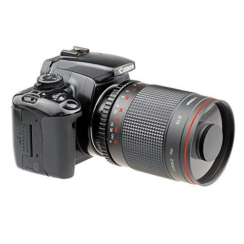 Lightdow 500mm f/8 Telephoto Mirror Lens for Canon Rebel EOS 80D 77D 70D 60D 50D 7D 6D 5D 5DS 1DS T7i T7s T7 T6s T6i T6 T5i T5 T4i SL2 and SL1 Digital SLR Cameras