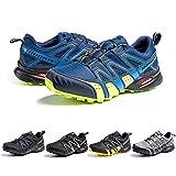 Zapatillas Trail Running Hombre Mujer Impermeables Zapatos Trekking Ligero Botas Senderismo Bajos Multideporte A Azul Talla EU 39