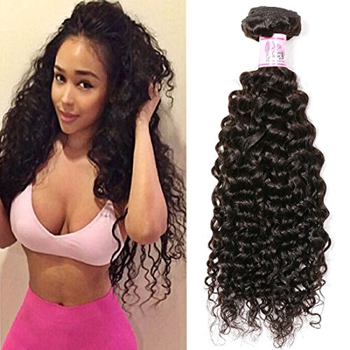 Beauty Forever Brazilian Curly Hair 1 Bundle 95-100g Hair Weave 100% Unprocessed Human Virgin Hair Extensions Natural Color Can Be Dyed And Bleached (10 inch)