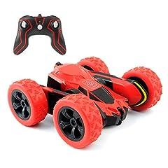 Idea Regalo - Rimila Auto telecomandata ,4WD Macchina Telecomandata Stunt Car,2.4GHZ Telecomando Macchina Acrzaic Rotazione di 360 Gradi(Non comprese Le batterie) (Red)