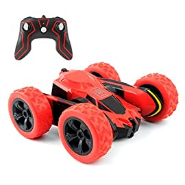 Rimila electric 2wd off road rc stunt car vehicle 2. 4ghz racing slot cars 7. 5mph 360° rolling rotating rotation (battery not included) toy 1 【strong control system】-the professional design makes many of its features,such as long distance transmission,convenient connection,powerful anti-interference ability. 【super speed&long racing time】-4 aaa batteries will power the rc car racing last for more than 15 mins,which brings you lots of fun. 【cool unique design 4 wheel system】-the 4 independent wheel provides a better traction for flexible,which enables car to be more flexible,especially when meet the outdoor play.