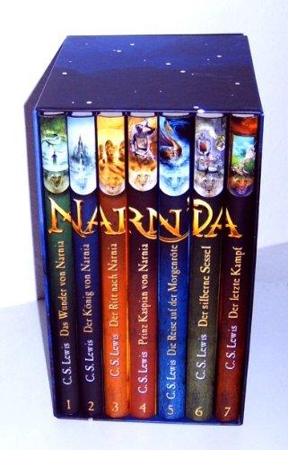 Die Chroniken von Narnia - 7 Bände, komplett im Schmuckschuber Das Wunder von Narnia + Der König von Narnia + Der Ritt nach Narnia + Prinz Kaspian von Narnia + Die Reise auf der Morgenröte + Der silberne Sessel + Der letzte KampfDer Ritt nach Narnia