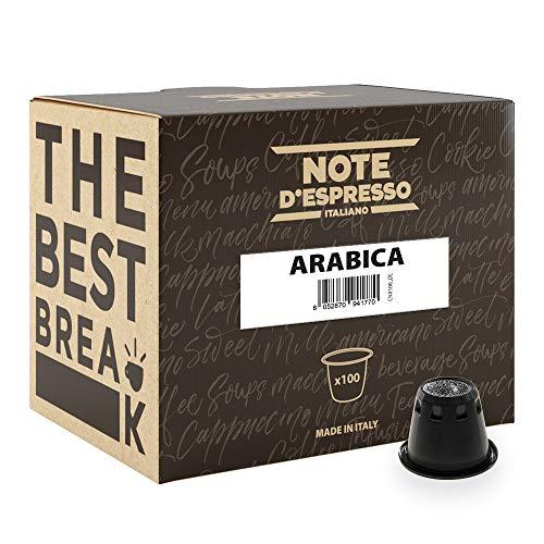 Note D'Espresso - Kapselmaschinen - ausschließlich Kompatibel mit Nespresso*- Arabica - 5,6g x 100