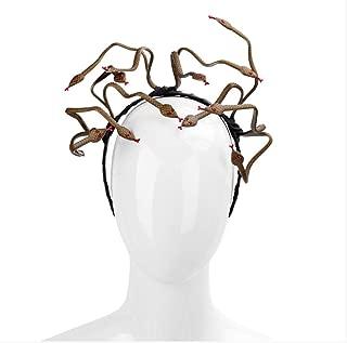Halloween Carnival Burning Man Cosplay Costume Hair Clasp Accessory Animal PVC Scary Medusa Snake Headband