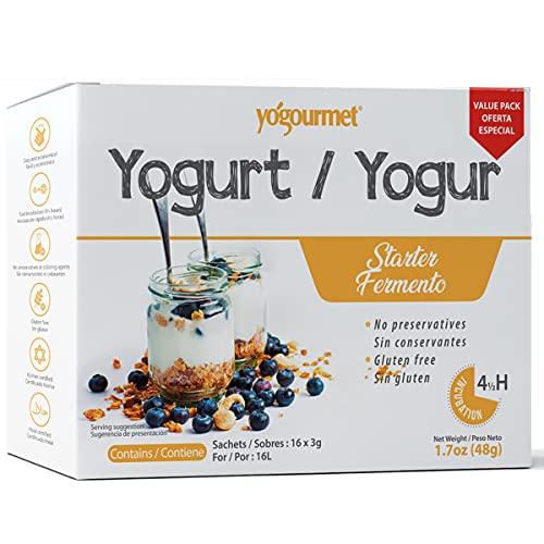 Yogourmet 16 Pack Freeze Dried Yogurt Starter Value Pack