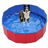Plegable Piscina Perro,Piscina para mascotas Piscina para perros Mesa de arena para gatos Bañera Piscina para niños plegable Piscina Kimchi Factory Outlet-red_80x30cm,Bañera Plegable para Mascotas