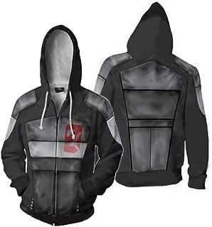 Wowdm Men's Borderlands Zero Hoodies Jacket Zipper Coat 3D Printing Long Sleeve Cosplay Costume