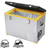 Setpower RV45 47 Quarts Portable Freezer Chest Fridge 12V Cooler, 0℉-50℉, DC 12/24V, AC 110-240V, Car Fridge Compact Refrigerator, for Truck, Van, RV Road Trip, Outdoor, Camping, Picnic, BBQ, Patio
