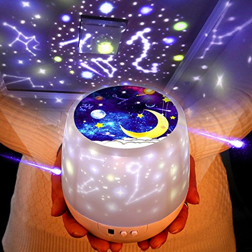 Night Lights for Kids -Luckkid Multifunctional Night Light Star Projector Lamp for Decorating...