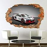 Pegatinas de pared alto rendimiento coche de carreras etiqueta de la pared calcomanía arte mural impresión cartel decoración
