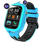 Kids Smart Watches for Girls Boys, Kids Smartwatch with Call 14 Games Dual Cameras Alarm Music Player Flashlight 12/24 hr, Touch Screen Children Learning Toys Birthday Gifts for Kids Age 3-14(Blue)