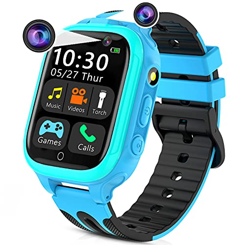 Kids Smart Watches for Girls Boys, Kids Smartwatch with Call 14 Games Dual Cameras...