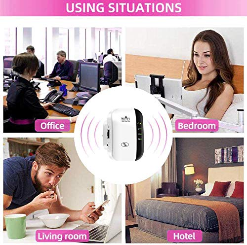 FKH Repetidor WiFi, 300Mbps Extensor WiFi, Amplificador WiFi 2.4GHz con Repertidor/Ap Modo y la función WPS… 8