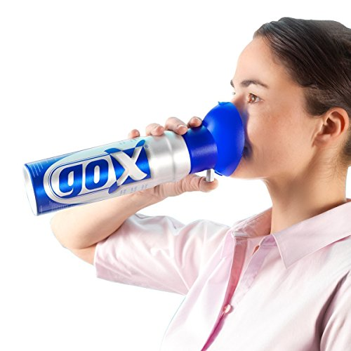 GOX - 6 litri di ossigeno puro in una lattina per stimolare e aumentare la sua energia, ideale per uso sportivo, allergico e affaticamento passeggero.