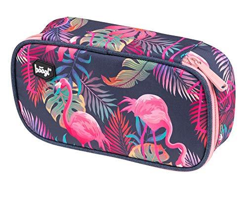 Baagl Federmäppchen für Mädchen - Schulmäppchen für Schreibwaren - Schulsachen Federtasche, Kinder Federmappe, Etui für Schule (Flamingo)