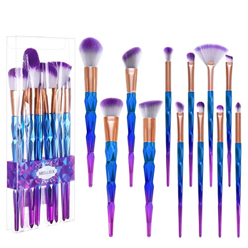 12 Stück Make Up Pinsel Set Kosmetik Pinsel Lidschatten Gesichtspinsel Foundation Eyeliner...