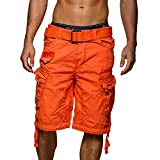Geographical Norway People Short cargo pour homme -  Orange - Large
