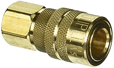 "Milton 715BK FNPT M Style Coupler, 1/4"", Box of 100"