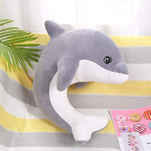 Delfín en Forma de u Almohada Linda Caricatura para Dar Regalos a Amigos Masculinos y Femeninos 1 Delfín Gris