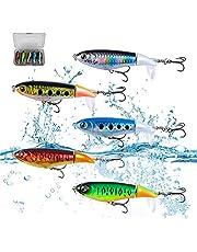 Jolicobo Lápiz Popper Señuelo Pesca Artificial Duro 10 cm 17.5 g Wobbler Flotante Multi-Segmentos Swimbait Siluros Bass Lubina Señuelo para Pesca Spinning con 2 Triángulo Ganchos