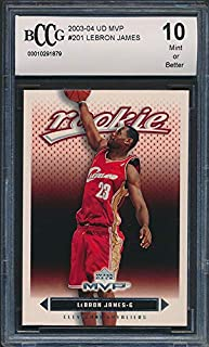 Lebron James Rookie Card 2003-04 Upper Deck Rookie Exclusives #1 BGS 9.5 Graded Card