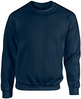 D&H Plain Classic Sweatshirts Sizes XS to 3XL Workwear Casual Crewneck Jumper Sweater Sports Leisure Fleece Pullover