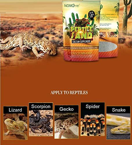Nomo NC-02 - Arena de calcio para reptiles (1,8 kg, natural, sin olor) para escalar mascotas lagarto, araña, serpiente, gecko Scorpoin